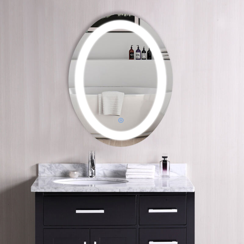 Oval Make Up LED Cosmetic Mirror Light with Dimmable Touch D