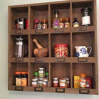 Shabby Chic Wall Unit Shelf Storage Cupboard Cabinet Pigeon Hole Vintage Style