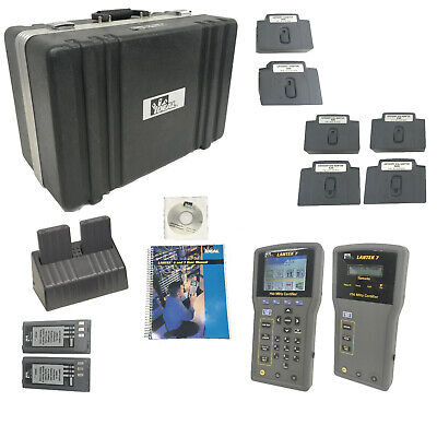 Ideal Lantek 7 750mhz Cable Certification Tester Kit Wcaseadapters Software