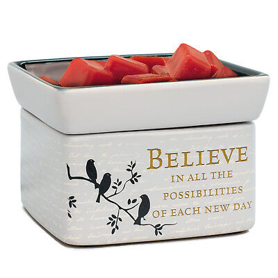 Believe in Tomorrow Electric 2 in 1 Jar Candle and Wax and Oil Warmer