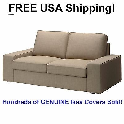 Ikea Kivik Loveseat  2 Seat Sofa  Cover Slipcover Isunda Beige New  Sealed