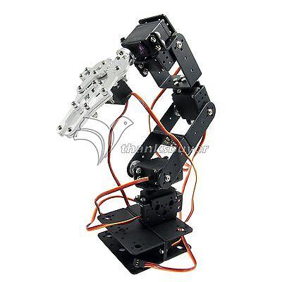 Aluminium Robot 6 DOF Arm Mechanical Robotic Arm Clamp Claw Mount Kit f/ Arduino