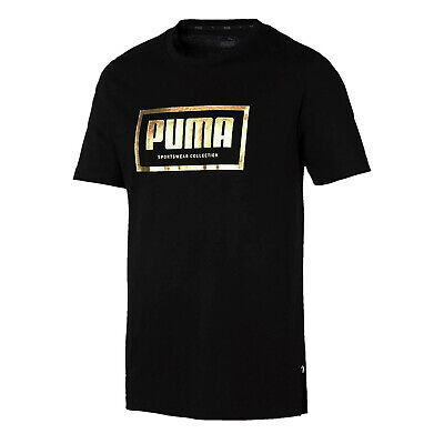 Puma Holiday Pack Mens Casual T-Shirt Top Tee Black