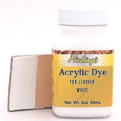 Acrylic Leather Dye White Paint 2 oz. (59mL) 2604-07 ACRD97P002Z by Fiebing's