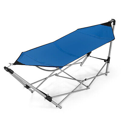 Portable Folding Hammock Lounge Camping Bed Steel Frame Stan