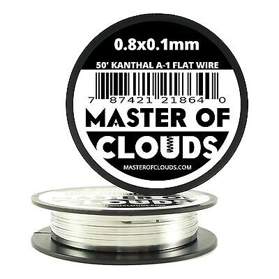 50 Ft - 0.8 X 0.1 Mm Flat Ribbon Kanthal A-1 Resistance Wire Spool A1 50 Roll