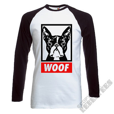BOSTON TERRIER T-SHIRT - Long Sleeve baseball dog lover owner present gift - pug