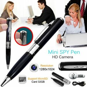 New Mini SPY Pen Hidden HD Cam Camera 32GB Video USB DVR Recording SpyCam UK