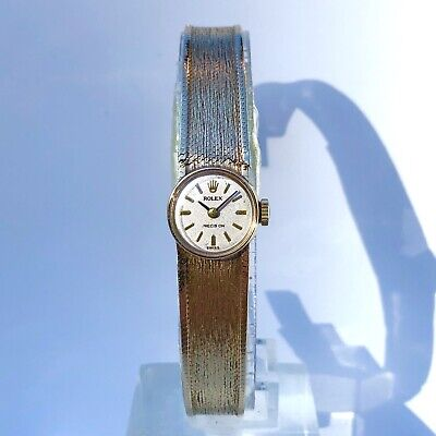 Ladies Rolex 9ct Solid Gold Precision Manual Wind Vintage Dress Watch Circa. 70s