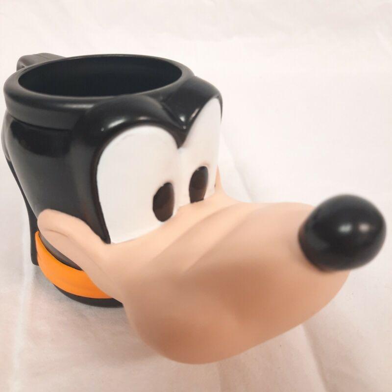 Walt Disney Goofy Plastic Character Head Mug Applause 1990