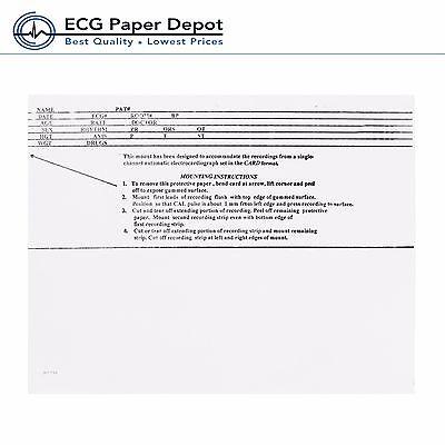 Ecg Mount Card Burdick Compatible 007909 Pressure Sensitive Case Of 10 Boxes