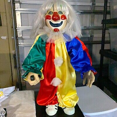"""Halloween Movie Michael Myers 24"""" Clown Outfit Doll Compass International 2007"""