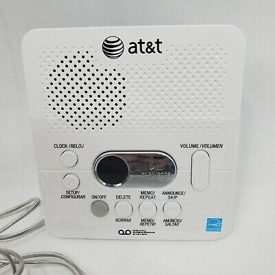 AT&T 1740 Digital Answering Machine System 60 Minutes Remote Access Open Box