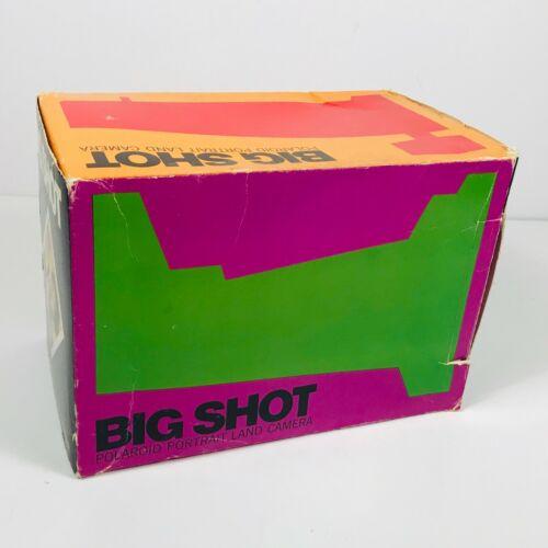 Vintage Big Shot Polaroid Portait Land Camera w/ Original Box Instant Film 1970s