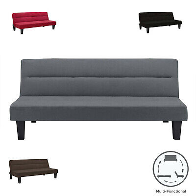- Modern Convertible Futon Sofa Bed Sleeper Adjustable Couch Full Size Living Room