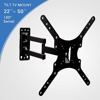 """TV Wall Mount 22""""-50"""" Full Motion Tilt Swivel Bracket LCD LED Plasma"""