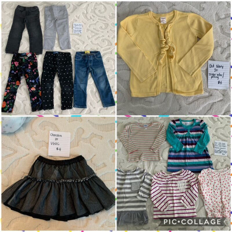 Toddler Girl 3t Fall Winter Clothes Lot Jeans Long Sleeve Shirts Skirt Old Navy