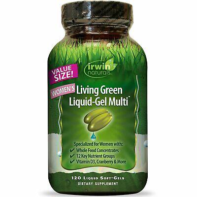 Irwin Naturals  Women s Living Green Liquid-Gel Multi  120 Liquid