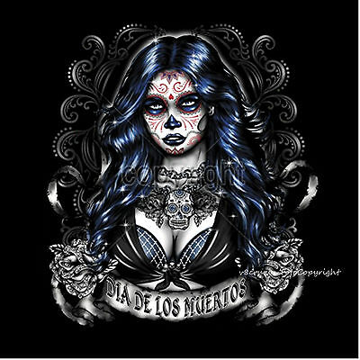 * T-Shirt Tattoo Dia de los muertos flash sugar Mexican Skull Style *1042