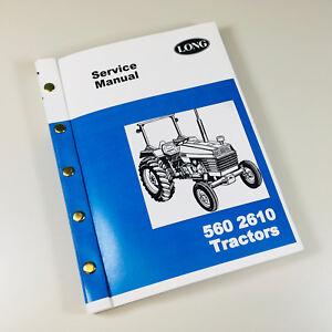 long 560 2610 tractor service repair shop manual technical shop book  overhaul