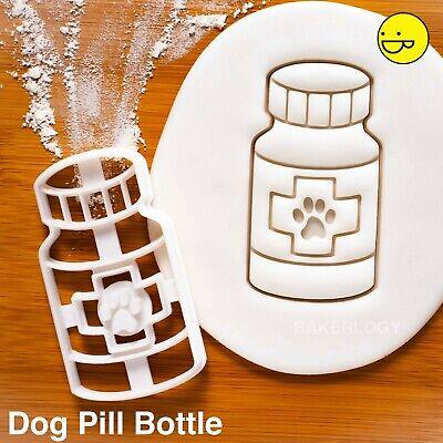 Perro Pastilla Botella Cortador Galletas Veterinaria Tratamiento Clínica Huellas