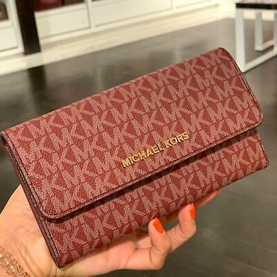 Michael Kors Women Ladies PVC Leather Card Holder Clutch Long Wallet Phone Case