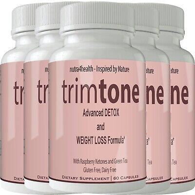 Trimtone (5 Bottle Pack) Thermogenic Trim Tone Fatburner Weight Loss Keto Pills
