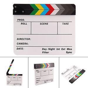 Acrylic Clap Clapper Clapperboard Board Film Movie Action Scene Slate Dry Erase
