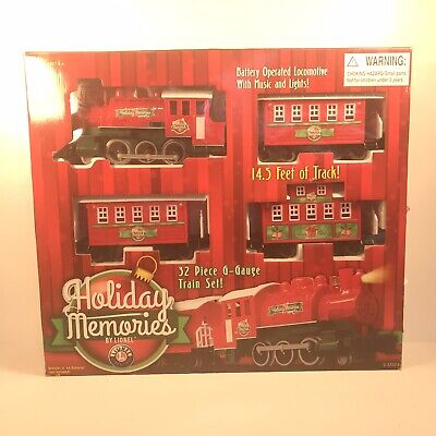Lionel G-Gauge Train Set 32 Piece Holiday Memories Christmas