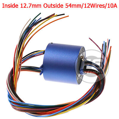 New 12wires 380v Acdc 10a 12.7mm Dia Metal Capsule Conductors Slip Ring Blue
