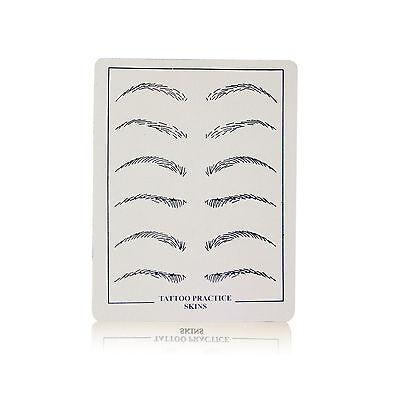 Permanent Makeup Nadel Übungshaut flach Augenbrauen verschiedene Stückzahlen ()