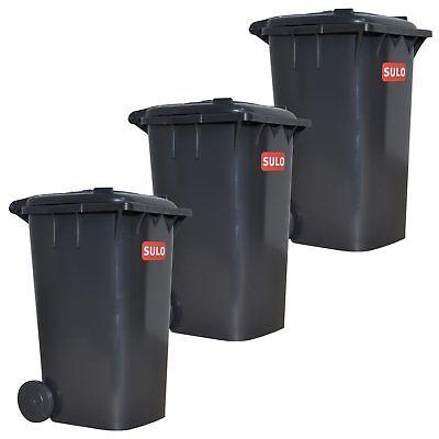 3 St. SULO Mini-Mülltonne grau 1:1 Abbild der Sulo Mülltonne 120 Liter Spielzeug
