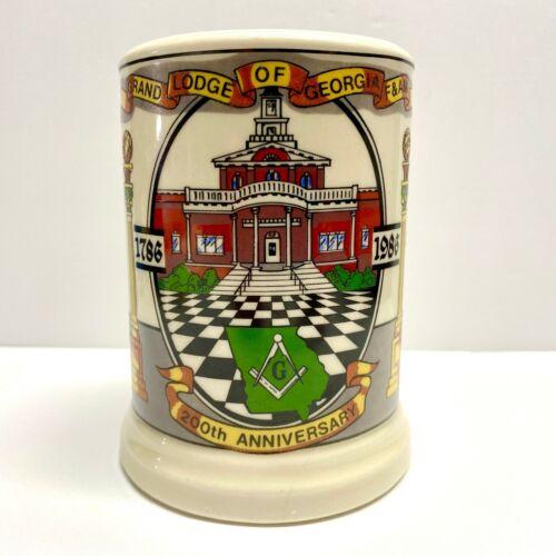 200th Anniversary Grand Lodge of Georgia Stein 1786-1986 Limited Edition #188