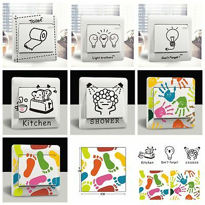 Cartoon Kitchen Bathroom Light Switch Wall Stickers Decor Decals Art Room Home ()