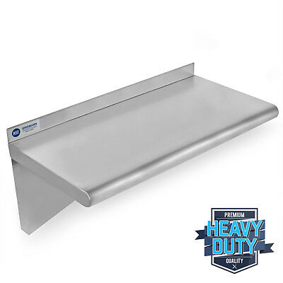 Stainless Steel Commercial Kitchen Wall Shelf Restaurant Shelving - 12 X 24
