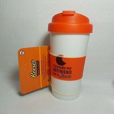 Reeses Thermal To Go Mug 16 oz Chocolate Candy Bar Themed Plastic Cup BPA FREE Themed Chocolate Bar