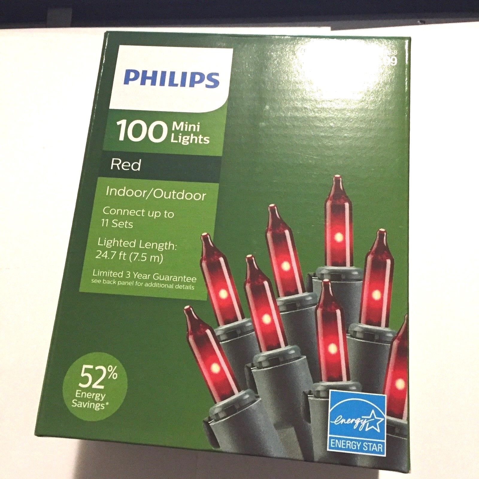 Philips 100 Mini String Lights In Or Outdoor Christmas 24 ft