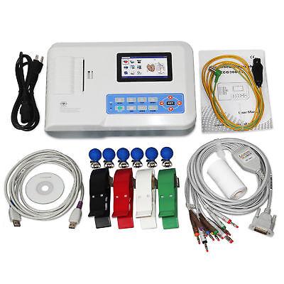 Contec Ecg300g Digital Electrocardiograph 3-channel 12-lead Ecg Machine Pc Sw
