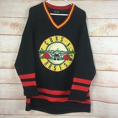 Guns N' Roses Bravado Black Hockey Jersey Sz Large Rock and Roll