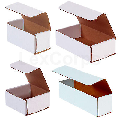 White Corrugated Mailers MANY SIZES 50 100 200 Shipping Packing Boxes Box Mailer