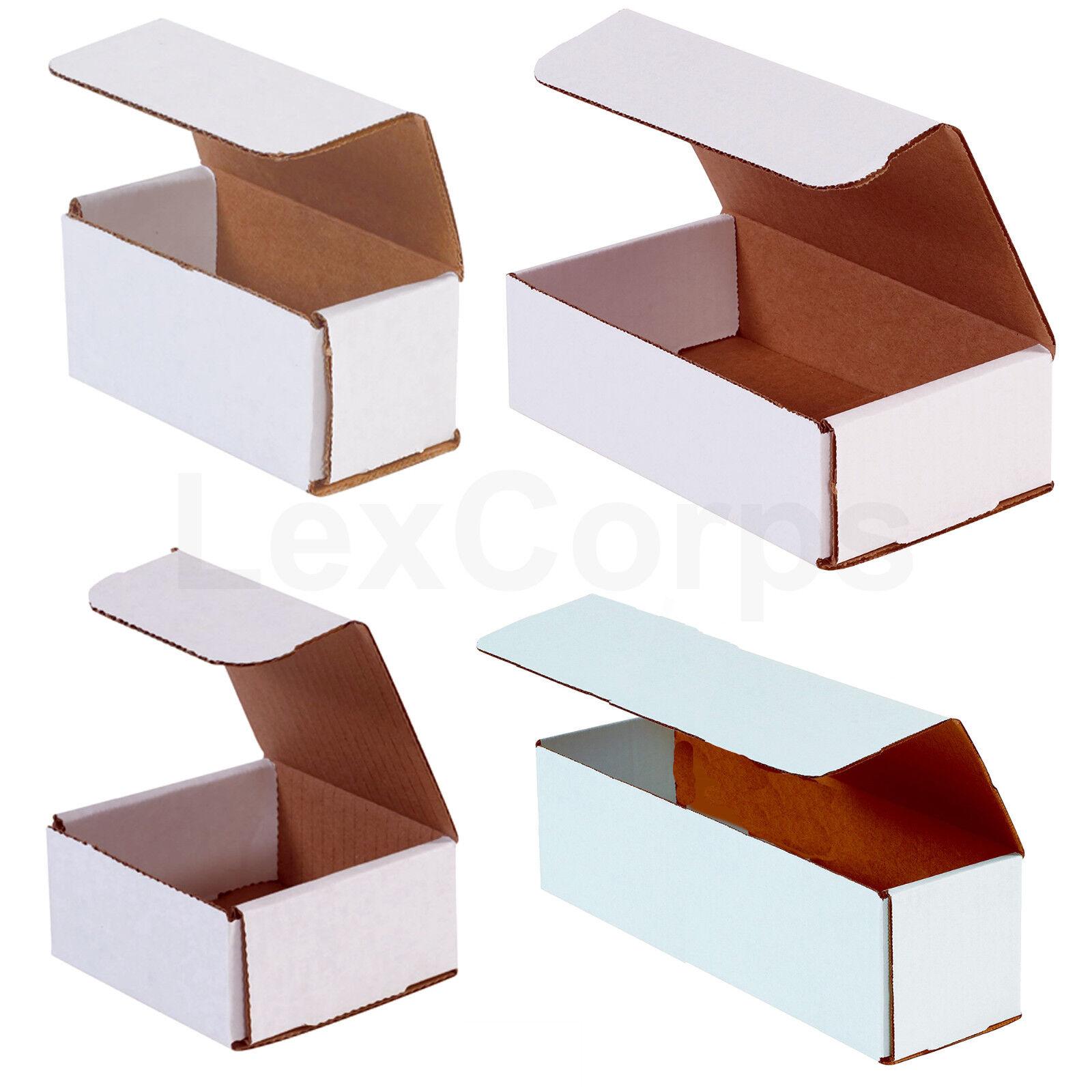 White Corrugated Mailers MANY SIZES 50 100 200 Shipping Packing Fold Box
