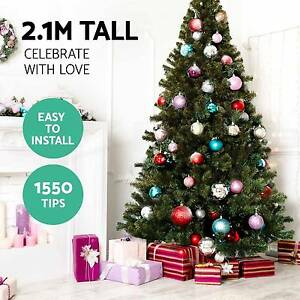2.1M 7FT CHRISTMAS TREE XMAS TREE METAL BASE GREEN DECRORATION Perth Perth City Area Preview