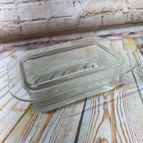 Vintage Heller Oven Mikrowellen Glas Brot Loaf Pan Gerippt Backform L&M Vignelli