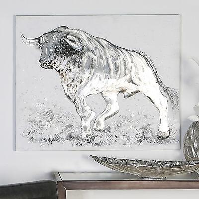 STIER Bild  Ölgemälde Hand gemaltes Bild Leinwand Handgemalt  80x100cm NEU
