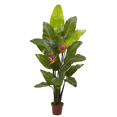 "Artificial 58"" Tall Bird of Paradise Tropical Floral Plant"