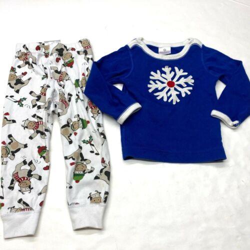 Hanna Andersson Holiday Pajama Lot Bundle 80 18-24 Mos Boys Christmas Snowflake