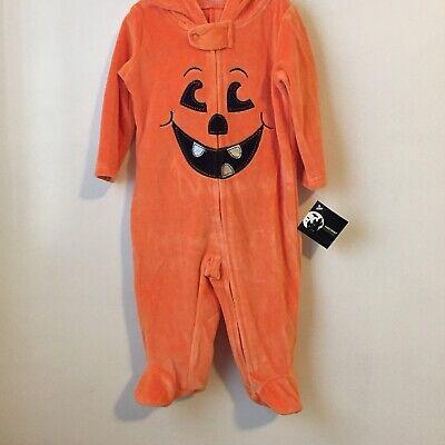 0-3 Month Newborn Halloween Costumes (Halloween Baby Costume Pumpkin - Newborn 0-3 Months Orange Zippered Sleeper)