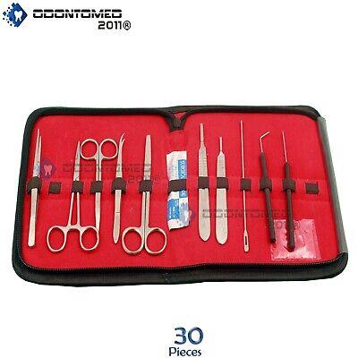 Odm 30 Pcs Advanced Biology Lab Anatomy Medical Student Dissecting Kit Set