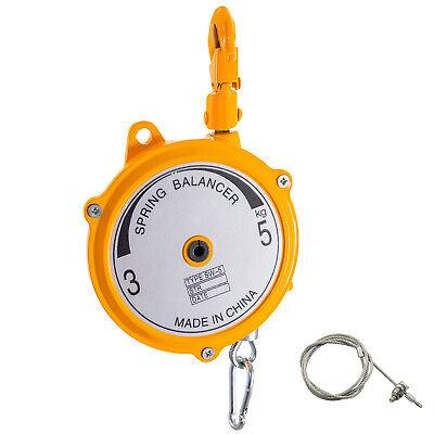 Spring Balancer Retractable Tool Holder7-11lbs3-5kg Hanging Equipment Yellow