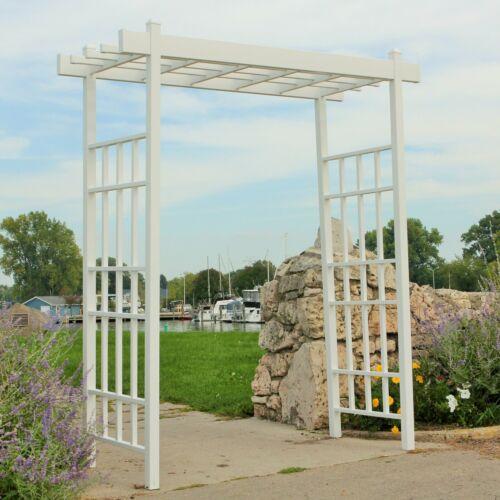 Vinyl Arbor Pergola Garden Trellis Arch Wedding Climbing Plants Vine Path White